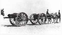 18-pounder gun with sand wheels, Suez Canal Defences 1916