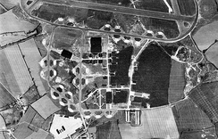 Aerial photograph of the USAAF 4th Strategic Air Depot at RAF Wattisham looking north, 3 April 1946