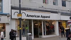 American Apparel branch on Briggate in Leeds.