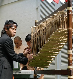 Angklung as a Masterpiece of Oral and Intangible Heritage of Humanity.
