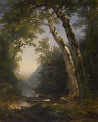 "Painting by Asher Brown Durand depicting the Catskills using the ""sublime landscape"" approach[15] The Walters Art Museum"