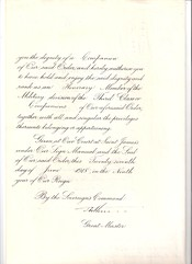 Warrant appointing Italian Captain (later Admiral) Ernesto Burzagli as an honorary Companion of the Order