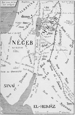 Map of the Bedouin tribes in 1908