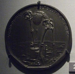 "Death works ""Verdun the World-blood-pump"", German propaganda medal, 1916"