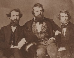 L-R: Henry Kirke Brown, Henry Peters Gray and Durand, 1850