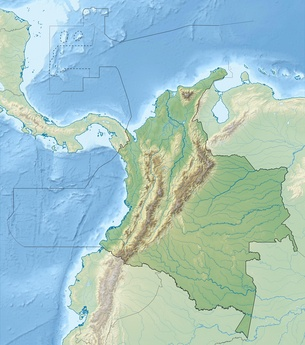 Topography of Colombia, highly variable per department