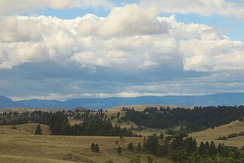 Landscape on the Crow Indian Reservation, Montana