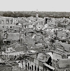 The Christian quarter of Damascus was destroyed in the 1860 civil war