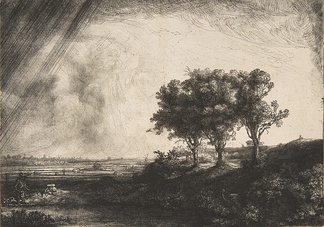 Rembrandt, The Three Trees, 1643, etching