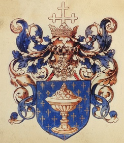 Coat of arms of the Kingdom of Galicia (L'armorial Le Blancq, c. 1560 AD).