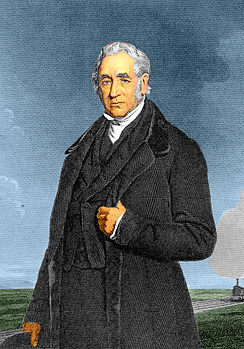 George Stephenson was born in Northumberland
