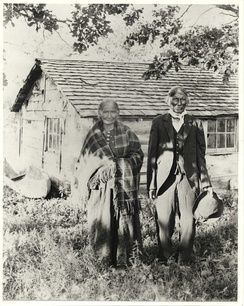 Andrew Good Thunder and his wife Sarah, a Dakota family who returned to Minnesota after the war