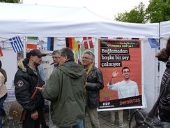A HDP election stand in Germany, 3 May 2015