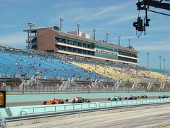 Green flag for the 2008 Miami 100 at the Homestead-Miami Speedway.