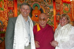 Jay Inslee and his wife Trudi Inslee met with the Dalai Lama in 2008.