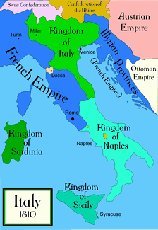 The Kingdom of Italy in 1810