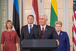 Joint Press Conference by the Baltic states presidents and Pence, July 31, 2017