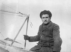 Léon Lemartin, the world's first test pilot,[1] under contract to Louis Blériot in 1910
