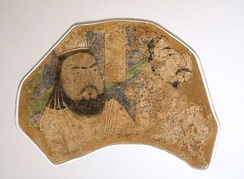 Uyghur Manichaean clergymen, wall painting from the Khocho ruins, 10th/11th century AD. Located in the Museum für Indische Kunst, Berlin-Dahlem.