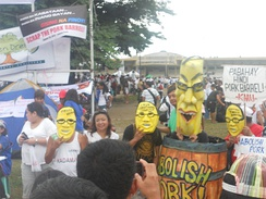 Protest against pork barrel politics at the 2013 Million People March in Luneta