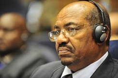 Sudanese President Omar al-Bashir, wanted by the ICC for war crimes and crimes against humanity.