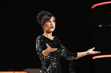 Petra Mede, host of 2013 and 2016 editions and Eurovision's Greatest Hits