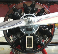 Radial engine of a biplane
