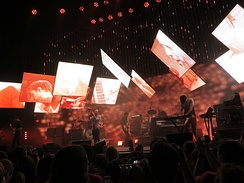 Radiohead performing on the 2012 King of Limbs tour
