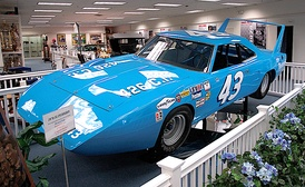 "Richard Petty's ""Petty Blue"" 1970 Plymouth Superbird on display"