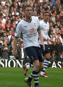 Keane playing against Chelsea on 21 March 2009 at White Hart Lane
