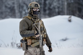 A Russian special forces soldier