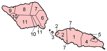 Political districts of Samoa, including minor islands