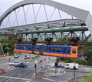 A GTW 72 train crossing an intersection
