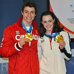 Virtue / Moir with 2010 Olympic gold medals