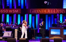 Crystal Gayle performing with Sherry Lynn at The Grand Ole Opry (2013)