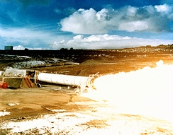 Static test firing, 1978