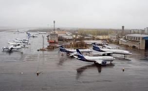 Аэропорт Талаги. Самолёты компании «Нордавиа»