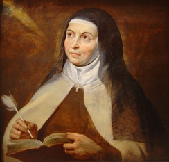 Saint Teresa of Avila depicted by Rubens, 1615. She is often considered one of the most important Christian mystics.[55]