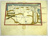 3rd Map of AfricaCyrenaica, Marmarica, Libya, Lower Egypt, and the Thebaid
