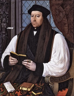Thomas Cranmer (1489–1556), Henry VIII's Archbishop of Canterbury and editor and co-author of the first and second Books of Common Prayer.