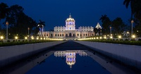 Ujjayanta Palace in Agartala, was commissioned by the Maharaja of Tripura State.