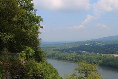 View looking northeast from the Shikellamy State Park overlook