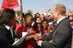 Putin's visit to the United States in November 2001