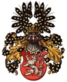 Royal Arms of Bohemia by austrian heraldist Hugo Gerard Ströhl (1851–1919)