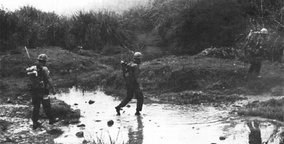3/3 Marines crossing a stream west of Cam Lo in March 1967