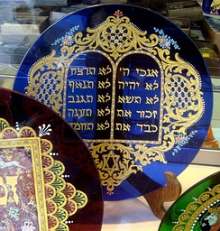 The Ten Commandments on a glass plate