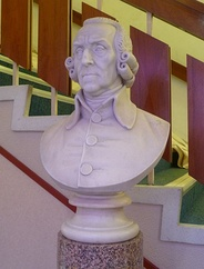 Bust of Adam Smith in the town's theatre named in his honour