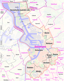 Districts of Antwerp.