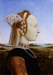 Battista Sforza, Duchess of Urbino. Portrait by Piero della Francesca