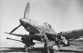 Ju 87Gs Kanonenvogel with twin 37mm autocannon in underwing gun pods